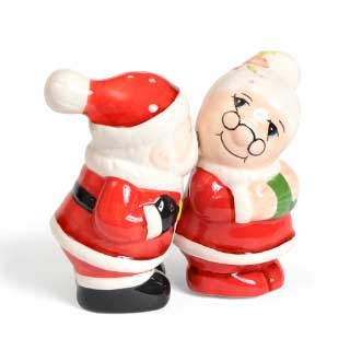 Salt- og pepperbøsser Kissing Santa