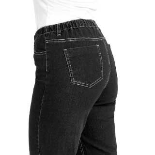 Stretchjeans Denim, sort