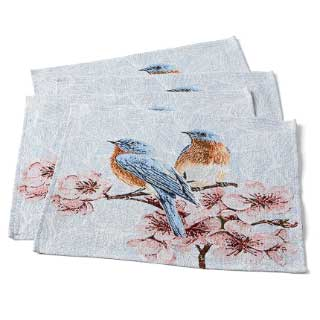 Bordbrikker Birds, 4 stk